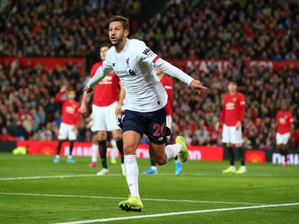 Cầu thủ Liverpool ăn mừng trận gặp MU