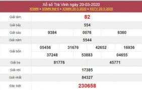 Phân tích XSTV 27/3/2020 - KQXS Trà Vinh hôm nay