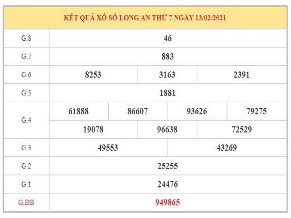 Phân tích KQXSLA ngày 20/2/2021 dựa trên kết quả kỳ trước