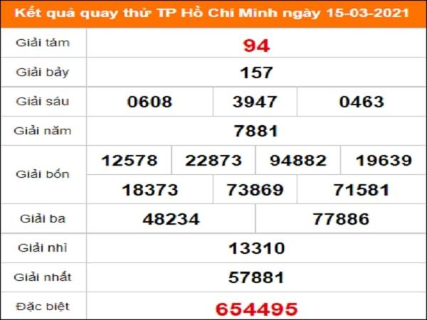 Quay thử xổ số Hồ Chí Minh ngày 15/3/2021