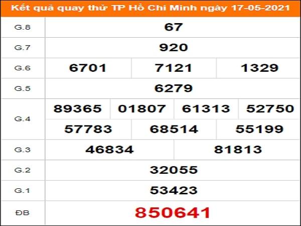 Quay thử xổ số Hồ Chí Minh ngày 17/5/2021