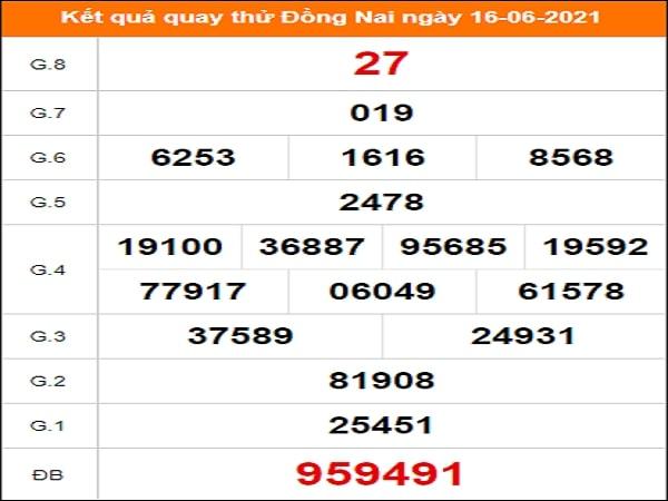 Quay thử xổ số Đồng Nai ngày 16/6/2021