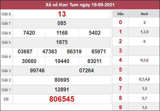 Phân tích KQXSKT ngày 26/9/2021 dựa trên kết quả kì trước